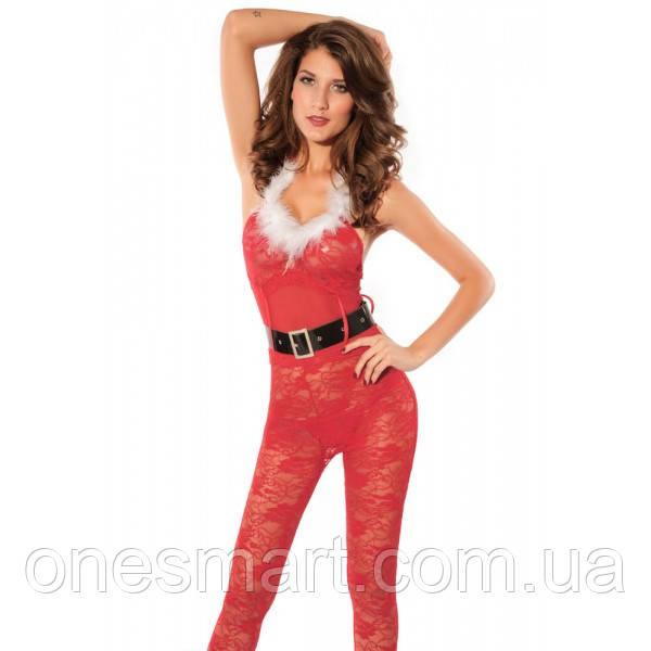Огненный Красный Рождественский костюм