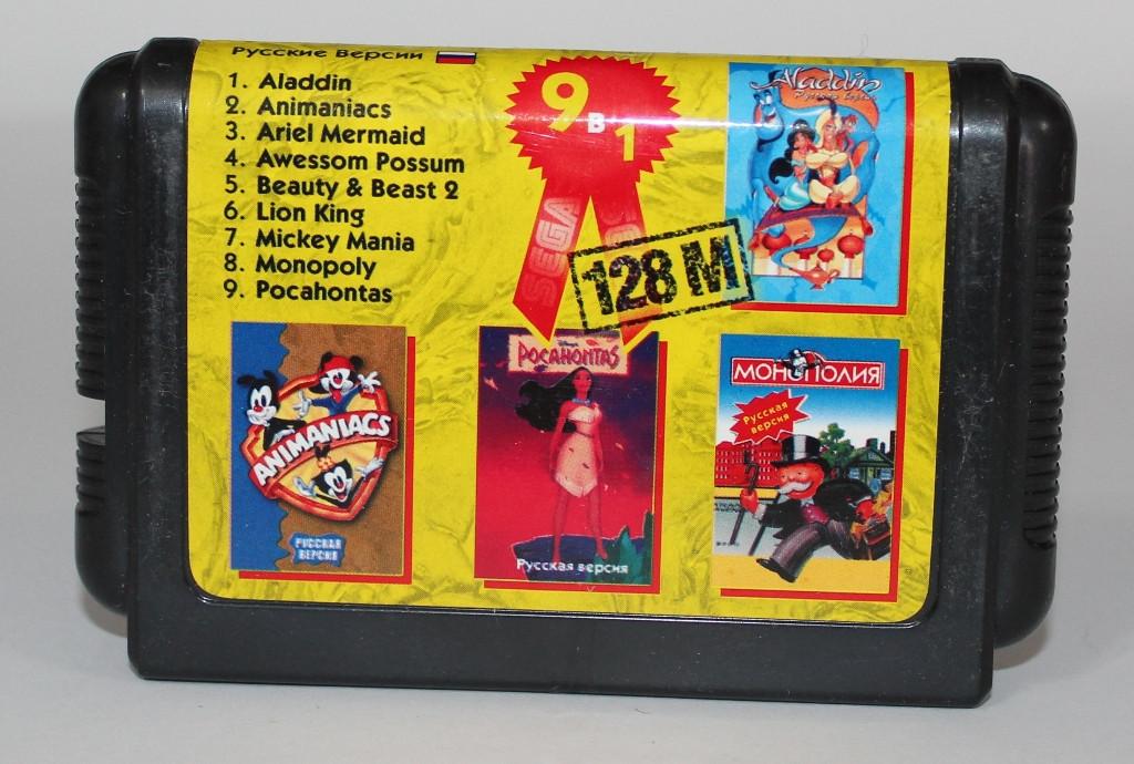 Картридж для Sega Mega Drive 2 9в1