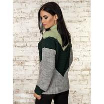 Модный джемпер свитер женский 2019 с узором 42-46 со стойкой , фото 2