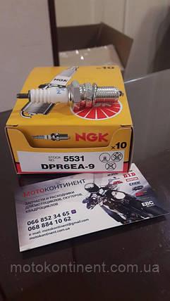 NGK DPR6EA-9   мото  свечи  зажигания  NGK 5531 / DPR6EA-9 KAWASAKI Vulcan /PARSUN 4T/MERCURY, фото 2
