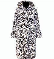138b1bd93592 Женский зимний халат на поясе теплый домашний велсофт мягкий с капюшоном махровый  Украина 44