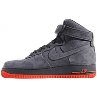 Мужские зимние кроссовки Nike Air Force (в стиле Найк Аир Форс) серые 756335da8990c