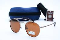 Солнцезащитные очки Matrix круглые коричневые, фото 1
