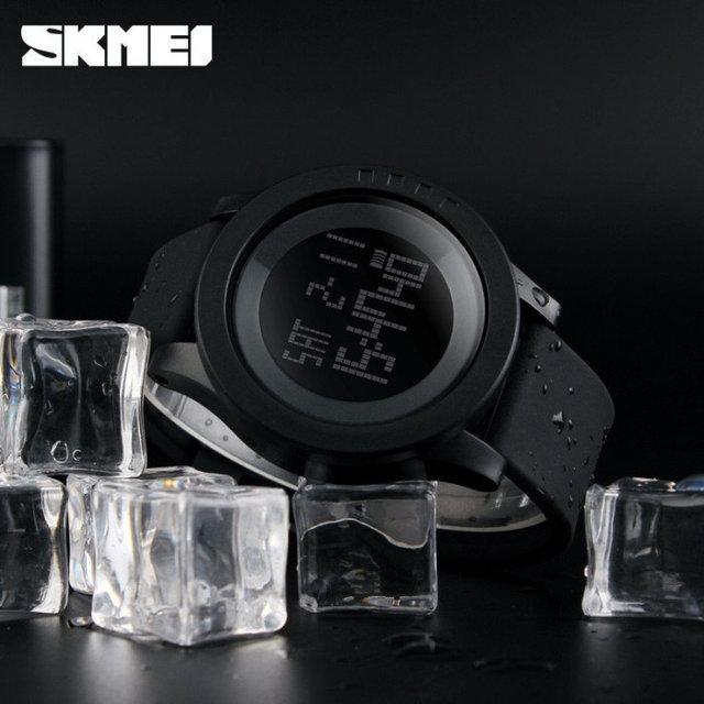 Skmei 1142 ultra черные  мужские спортивные часы