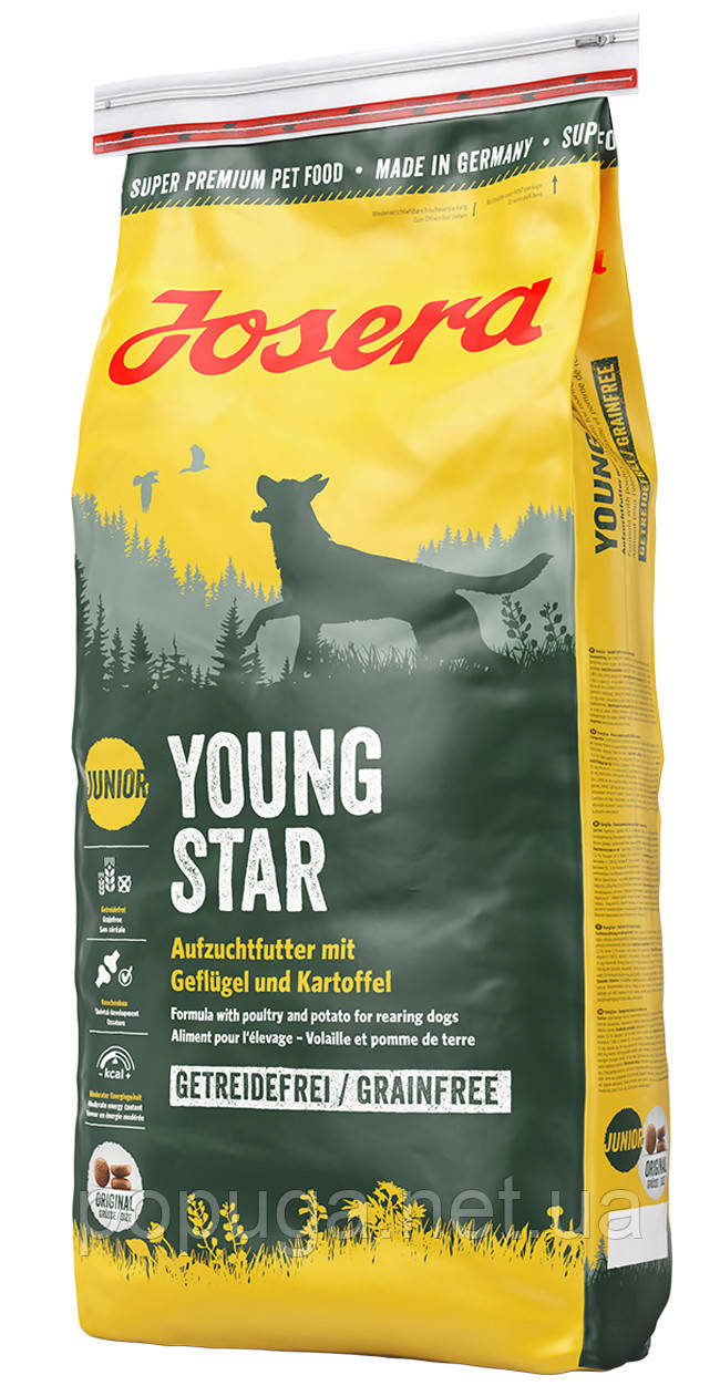 Josera Young Star беззерновой корм для щенков средних и крупных пород от 8 недель, 15 кг