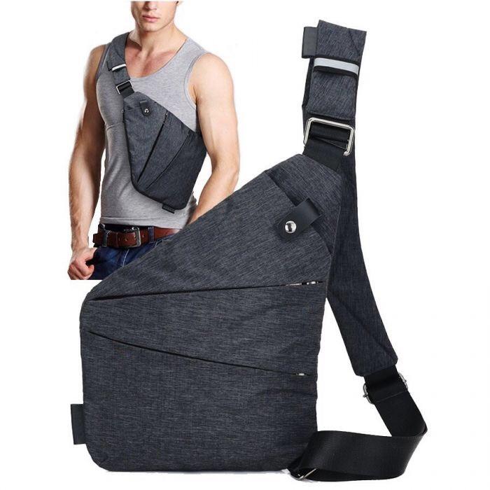 Мужская сумка-почтальонка
