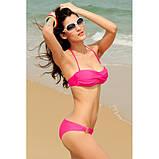 Розовый купальник бикини с металлическими встаками., фото 2