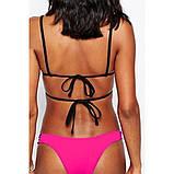 Черно-розовый купальник бикини, фото 2