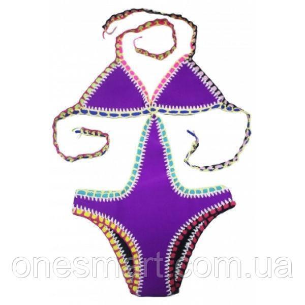 Фіолетовий купальник з неопрену