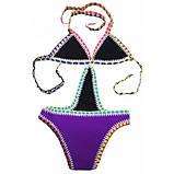 Фіолетовий купальник з неопрену, фото 2