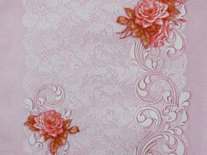 Обои, на стену, розовый, цветы, светлый,  бумажные, Летний 6446-06, 0,53*10м, фото 2