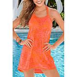Оранжевое пляжное платье, фото 2