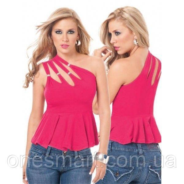 Розовый топ на одно плече
