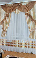 Ламбрекен со шторами Катарина 2м