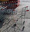 Тележка покупательская Wanzl (серия FLEX U) для 2-х покупательских корзин, оранжевый пластик б/у, фото 2
