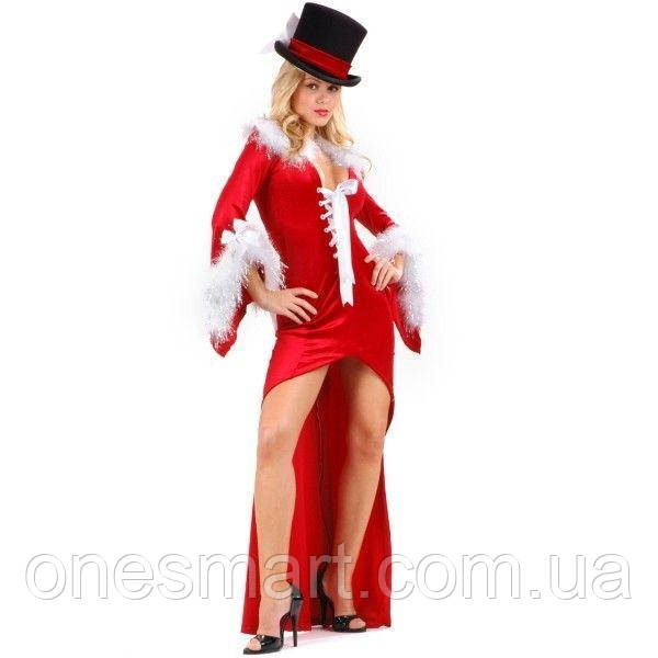 Новогоднее платье со шлейфом