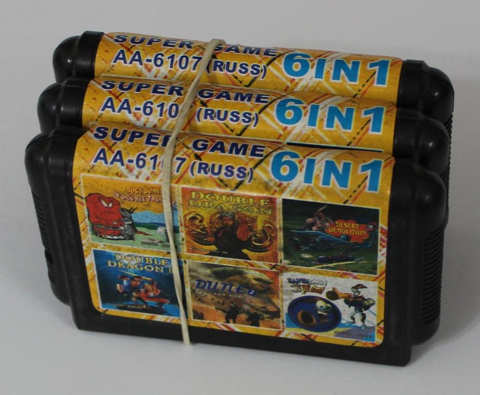 Картридж для Sega Mega Drive 2 6в1