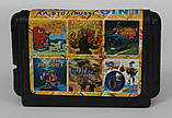 Картридж для Sega Mega Drive 2 6в1, фото 2