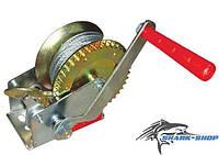 Лебедка рычажная барабанная стальной трос 500кг GT1454