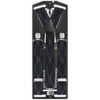 Подтяжки Bow Tie House галстучные черные элегантный ромбик 07489