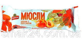 """Батончик-мюсли """"Злаки с персиком"""" Спартак 35г"""