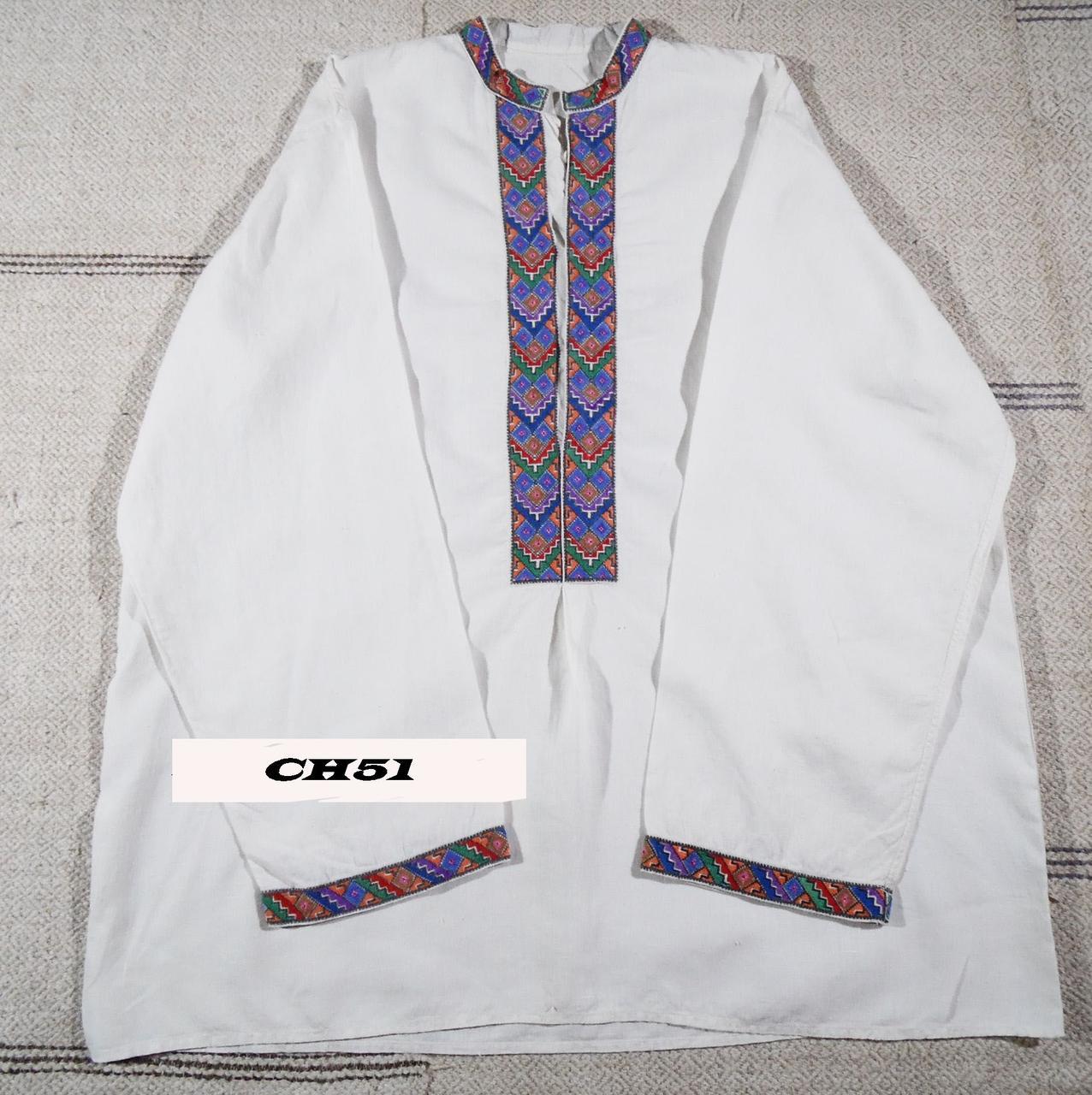 Чоловіча сорочка зшита з лляного полотна. Вишита майстерним хрестиком. СН-51 9289ea31daf6f