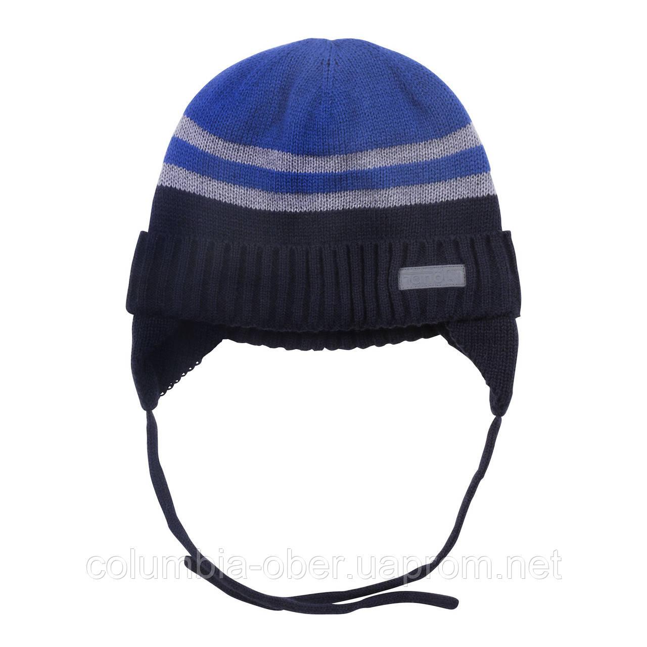 Зимняя детская шапка для мальчика Nano F18 TU 251 Navy. Размеры 6/12 мес - 5/6X.