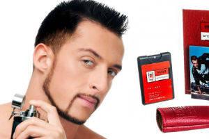 Мужские мини-парфюмы в кожанном чехле 20ml