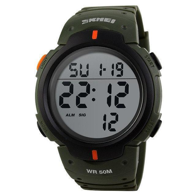 Skmei 1068 зеленые мужские спортивные часы