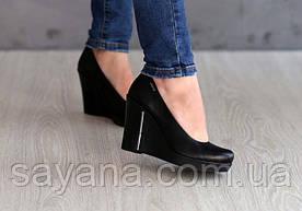 Женские туфли из натур. кожи на платформе. ДС-27-1018 (823)