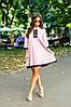 Платье свободного кроя с люрексом, отделка кружевом / 2 цвета  арт 7097-594, фото 3