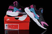 Мужские кроссовки Nike Air Huarache black-blue-pink