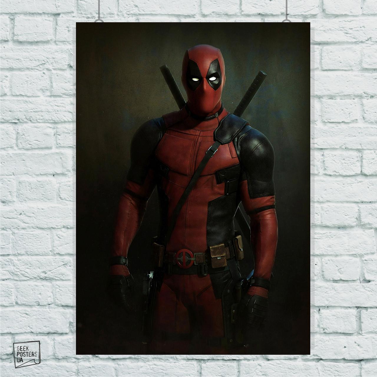Постер Deadpool, Дэдпул, Дедпул. Размер 60x42см (A2). Глянцевая бумага
