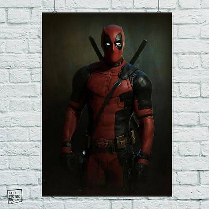 Постер Deadpool, Дэдпул, Дедпул. Размер 60x42см (A2). Глянцевая бумага, фото 2