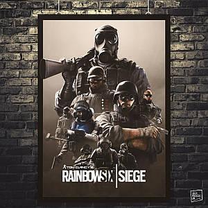 Постер Rainbox Six Siege, Радуга 6, Осада. Размер 60x32см (A2). Глянцевая бумага
