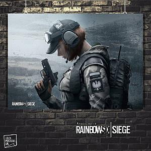 Постер Rainbox Six Siege, Радуга 6, Осада. Размер 60x42см (A2). Глянцевая бумага