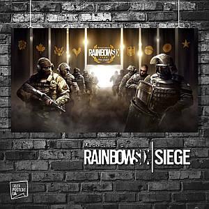 Постер Rainbox Six Siege, Радуга 6, Осада. Размер 60x33см (A2). Глянцевая бумага