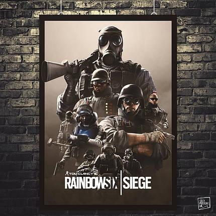 Постер Rainbox Six Siege, Радуга 6, Осада. Размер 60x42см (A2). Глянцевая бумага, фото 2