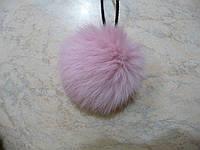 Помпон из меха кролика 8 см розовый №04