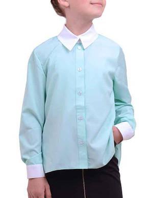 Блуза Астра ментолового цвета для девочки, LUXIK