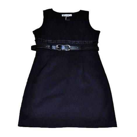 Сарафан школьный черного цвета для девочки, Smile Dragon