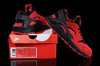 Женские кроссовки Nike Air Huarache черно-красные, фото 1