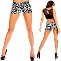 Короткие женские шорты с принтом