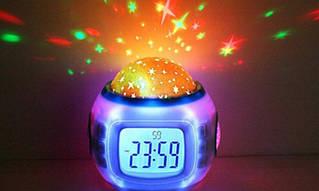 Часы - проектор звездного ночного неба 1038 светильник