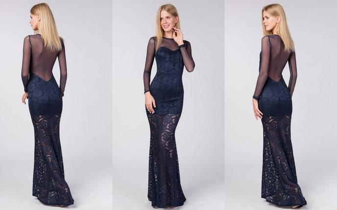 9a18f0b69f4 Облегающее гипюровое платье в пол