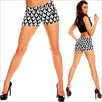 """Короткие женские шорты с принтом """"ромб"""""""