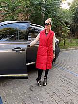 """Удлиненный женский стеганый жилет """"Canada"""" с карманами (5 цветов), фото 3"""