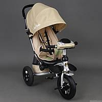 Детский трёхколёсный велосипед 698 БЕЖЕВЫЙ