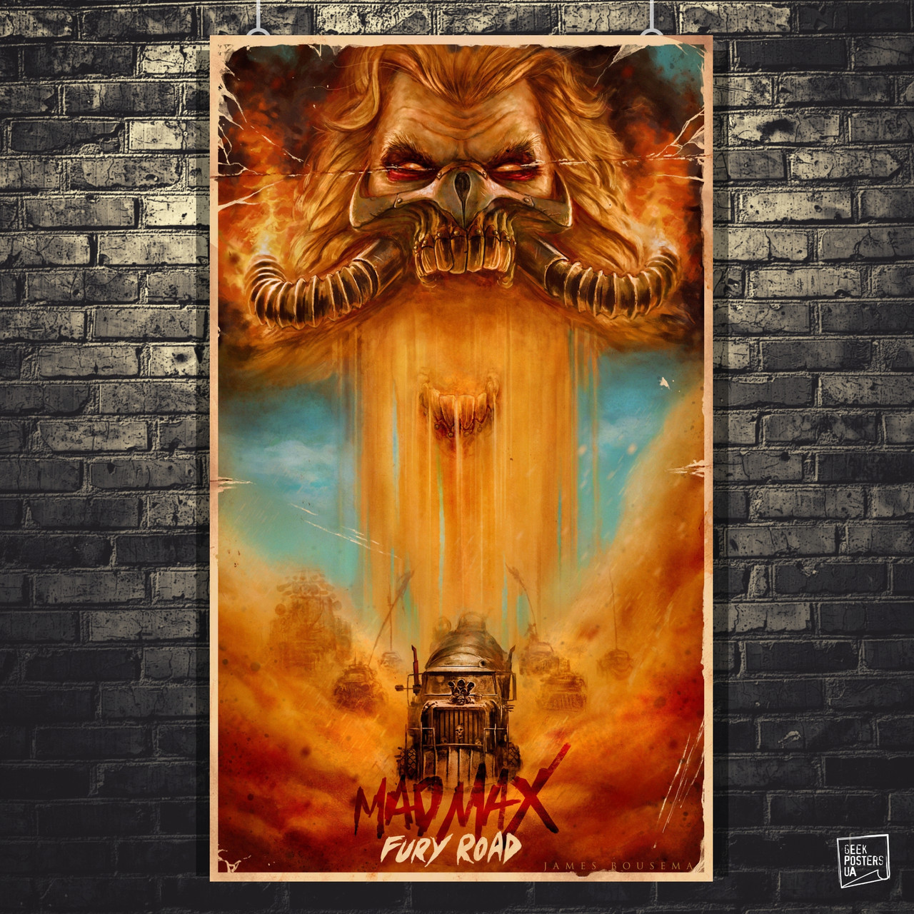 Постер Max Max: Fury Road, Безумный Макс: Дорога ярости. Размер 60x36см (A2). Глянцевая бумага