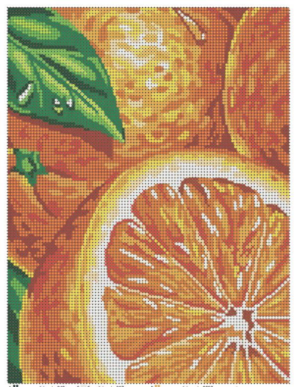 """Схема для полной зашивки бисером - """"Апельсин"""""""
